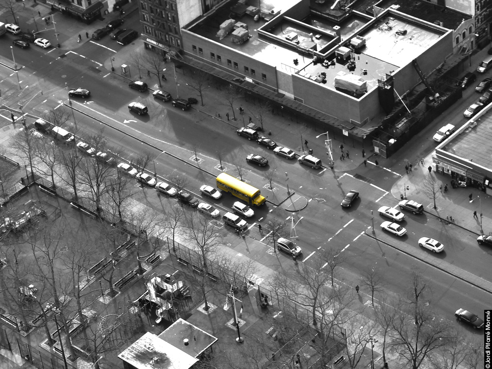 School Bus in Harlem